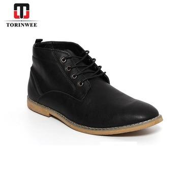 wholesale cheap men high neck deseart boots leather men shoes buy