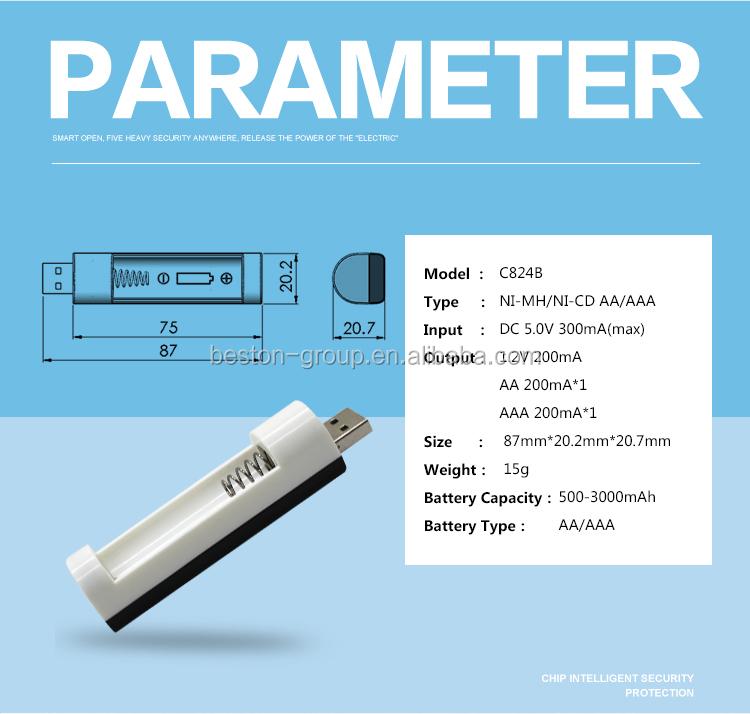 Emergency Single Aa Aaa Battery Adapter Usb Charger 1.2v