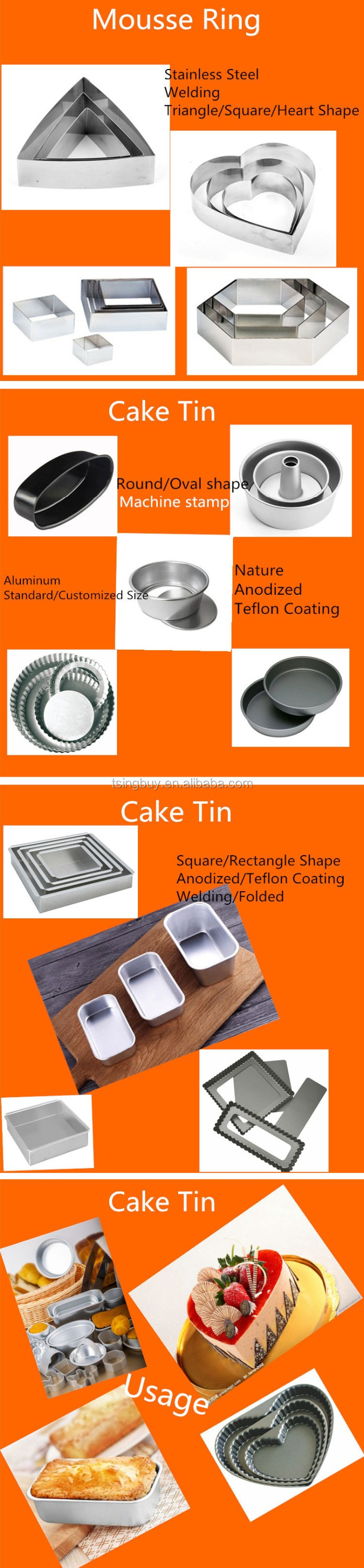 Stainless Steel Diy Dessert Ring With Pusher Mousse Cake Mold - Buy Cake  Mold,Mousse Cake Mold,Dessert Ring Product on Alibaba com