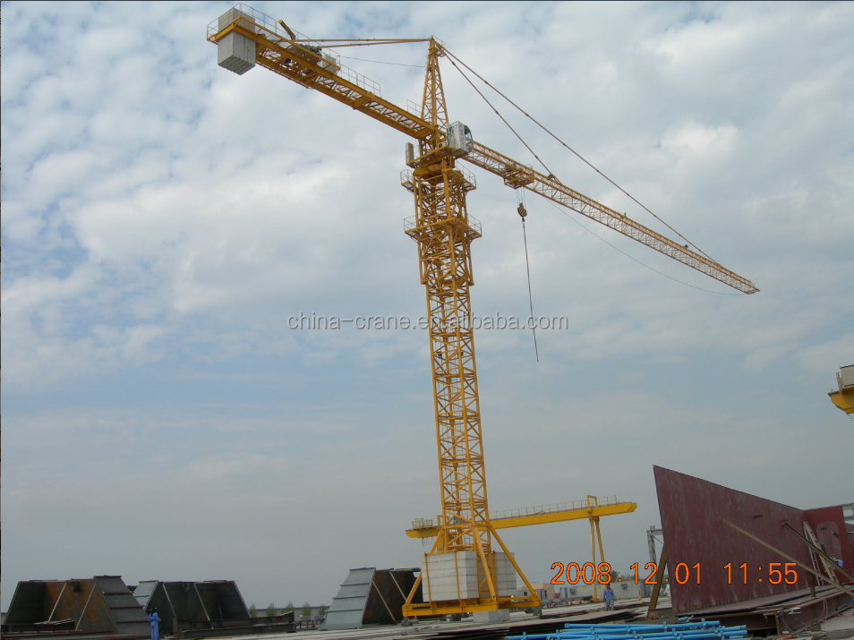 CE certificate traveling type tower crane/Foshan 6 ton tower crane/Guangdong QTZ 5013 tower crane