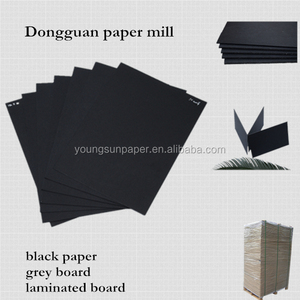 black paperboard/1.5mm board gsm and thickness/paperboard
