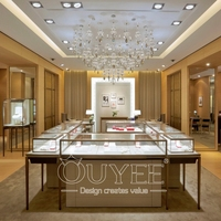 Decorative Design Commercial Jewellery Store Furniture Design Wooden Jewelry Display
