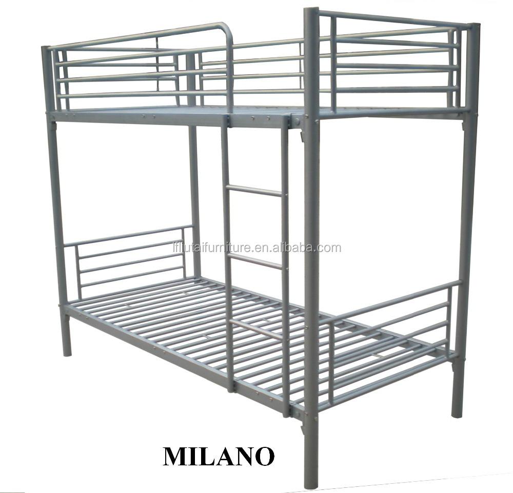 Iron Steel Double Bunk Beds Military Metal Bunk Beds Bedroom