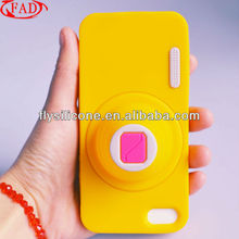 LoudSpeaker Silicone Cover For Iphone5 Case,Yellow