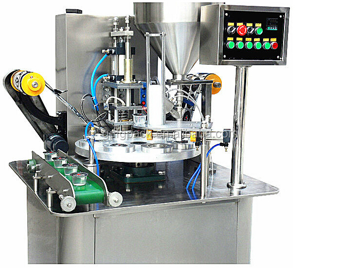 Automatic Rotary Yoghurt Tub Pot Cup Filling Sealing
