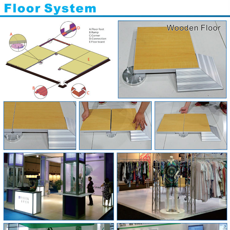 Exhibition Stand Raised Floor : Quick set up platform raised floor for exhibition portable