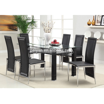 Modern Functional Kitchen Glass Dining Table And 6 Chairs Buy Kitchen Table Modern Dining Table Dining Table And Chairs Product On Alibaba Com