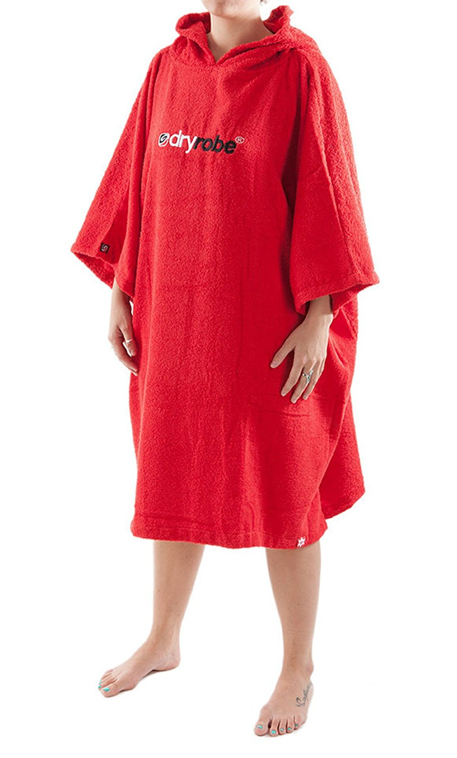 ded20a3f1aefa Get Quotations · Dryrobe Adult Beach Towel Changing Robe - Short Sleeve  Towelling Change Poncho / Dry Robe