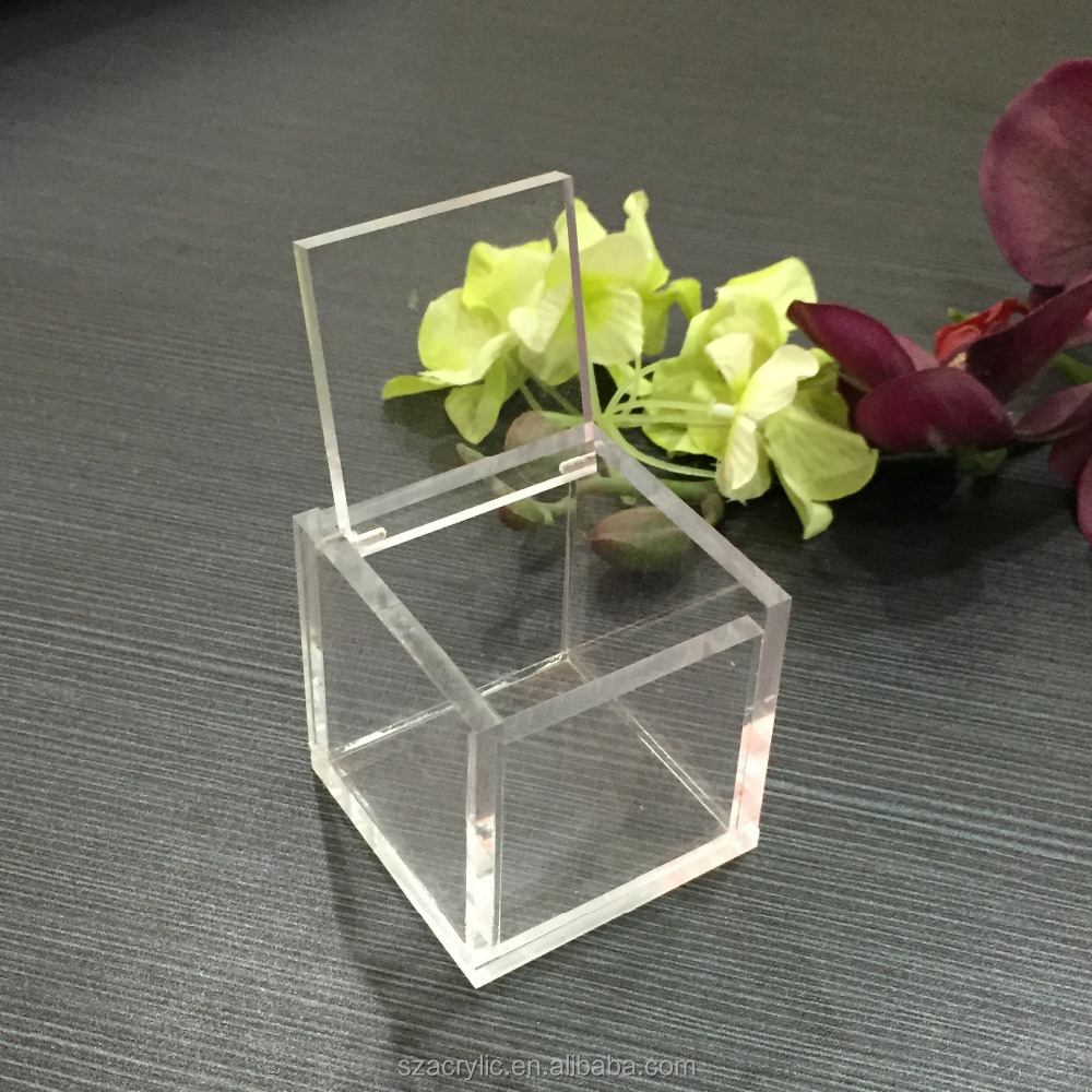 high quality transparent acrylic jewellery organizer box with lid