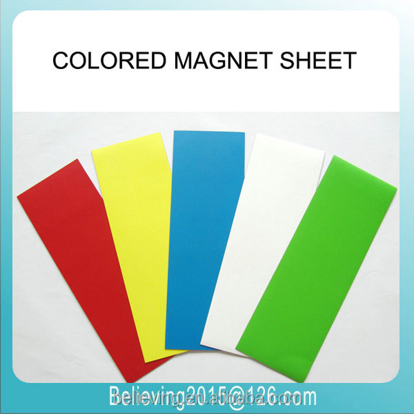 Colored Magnetic Sheets,Isotropic Rubber Magnet With Color Pvc - Buy ...