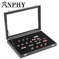 ANPHY A27 Black Jewelry Display Ring Organizer Show Case Holder Box Storage Jewelry Organizer Wholesale