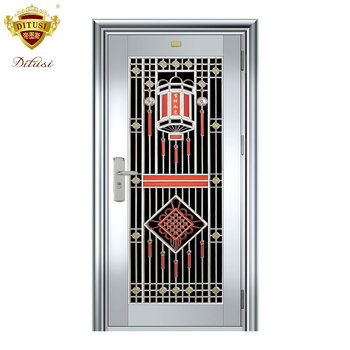 Modern Design Apartment Stainless Steel Main Doors Custom Exterior