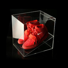 Factory wholesale plexiglass clear acrylic nike shoe box