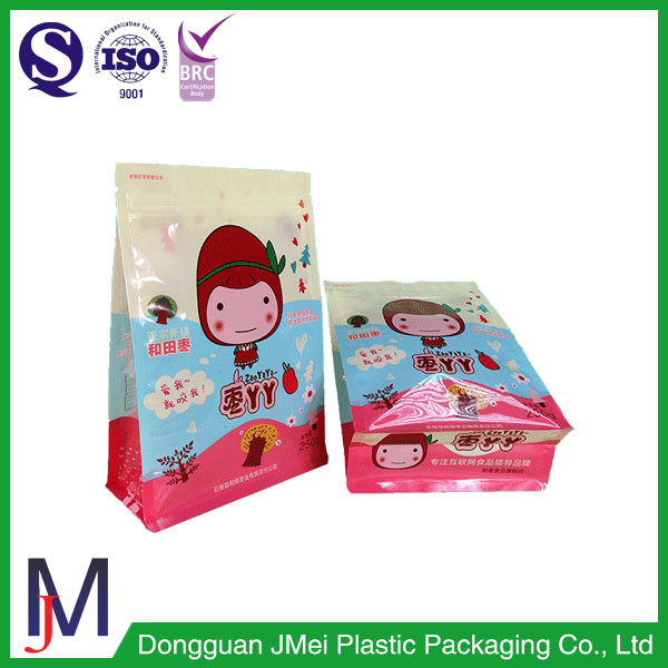 Qual Seal Stand Up Vacuum bag Packing Aluminum Foil Bag with Window for Candies