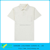 Stylish Designed Classical White Color Polyester Polo Shirt With Pocket