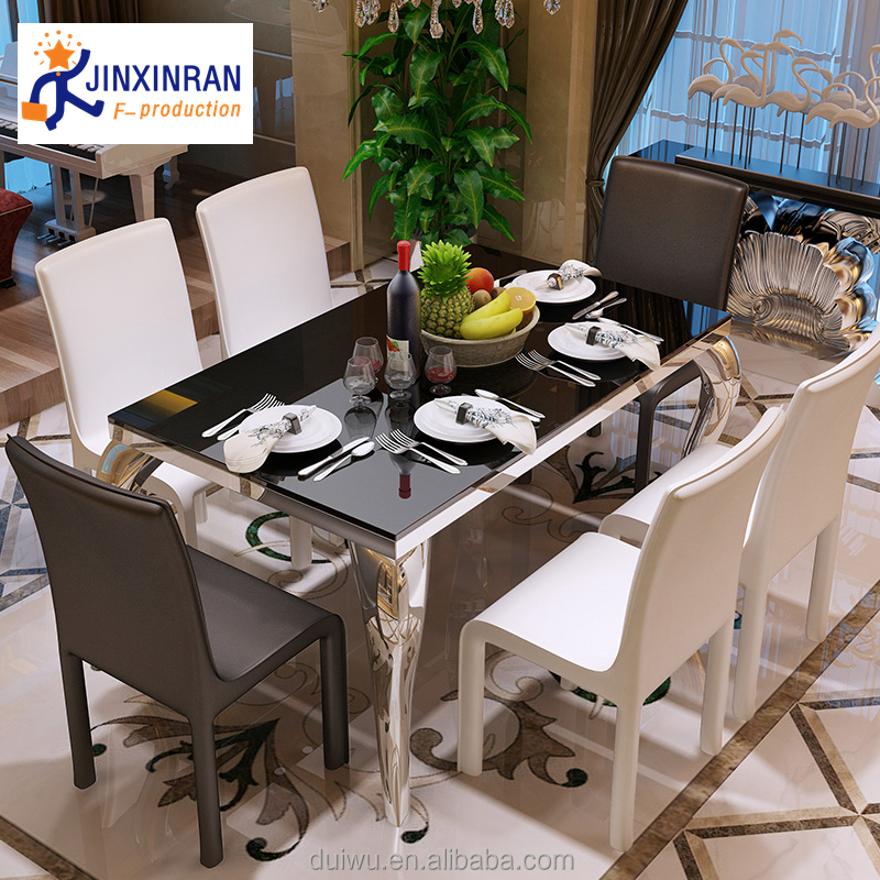 Dining Room Simple Ultra Modern 12mm Thick Tempered Glass Dining Table -  Buy 12mm Thick Tempered Glass Dining Table,Modern 12mm Thick Tempered Glass  ...