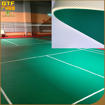 Pvc Floor Tiles Standard Size Sport Court Flooring Badminton Court