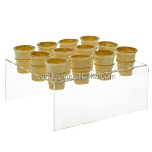 Transparent Mini Cone Holder Acrylic Ice Cream Cone <strong>Display</strong>