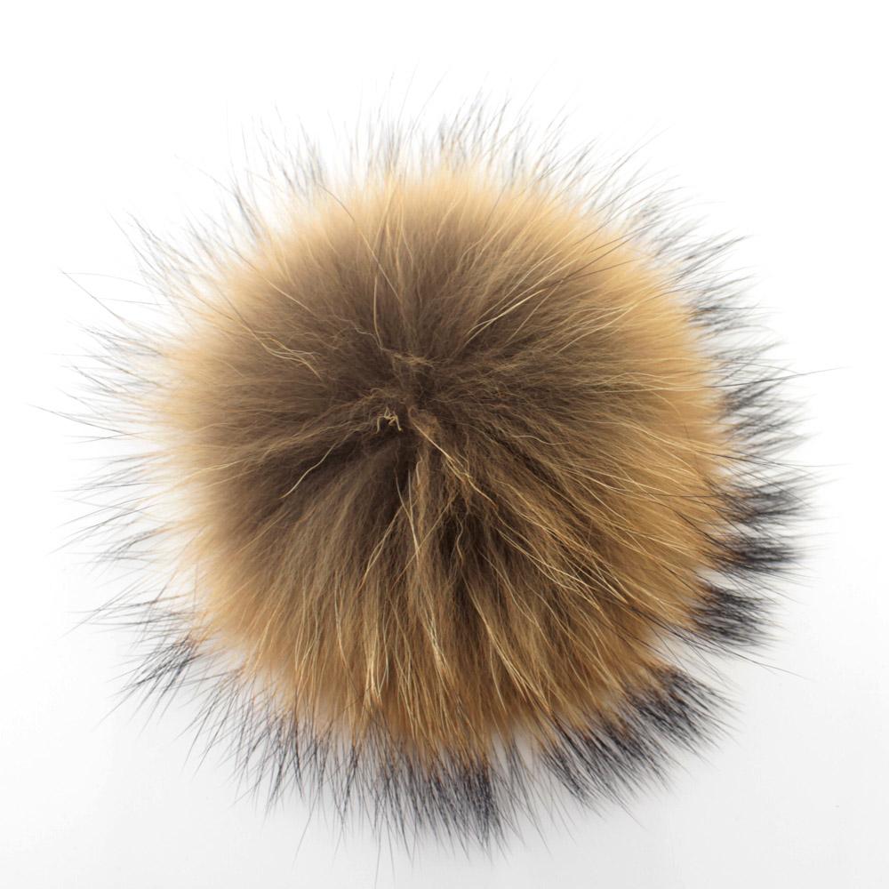 2pcs 10cm real raccoon fur pom poms ball fur hat winter hats for shoes fur cap