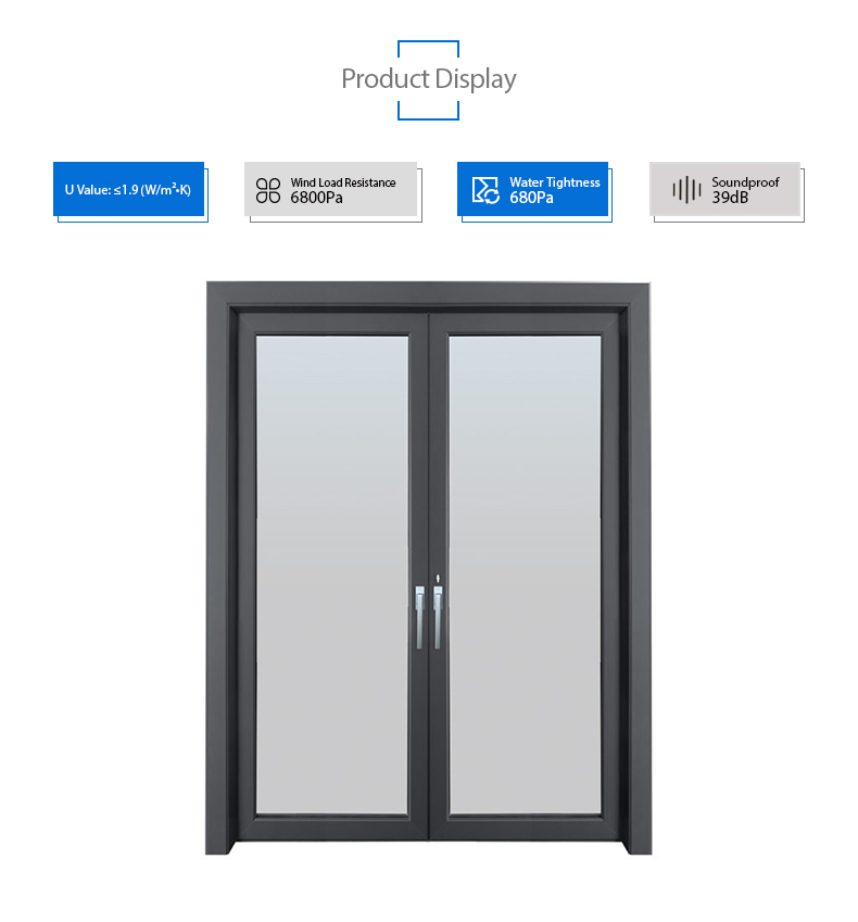 aluminium modern single door design front entry outdoor door