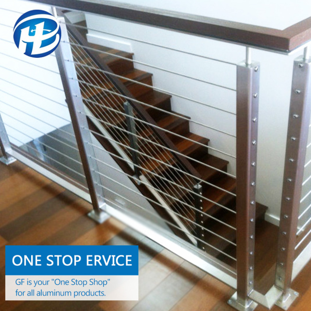 China High Quality Stainless Steel Cable Railing Systems Indoor Stair Cable  Railing