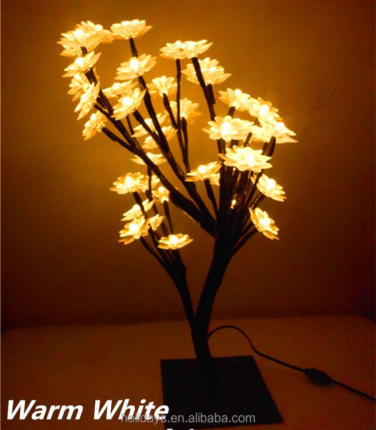 45cm indoor lighting home christmas new year wedding decoration desk 45cm indoor lighting home christmas new year wedding decoration desk table lamp fairy led lotus tree aloadofball Image collections
