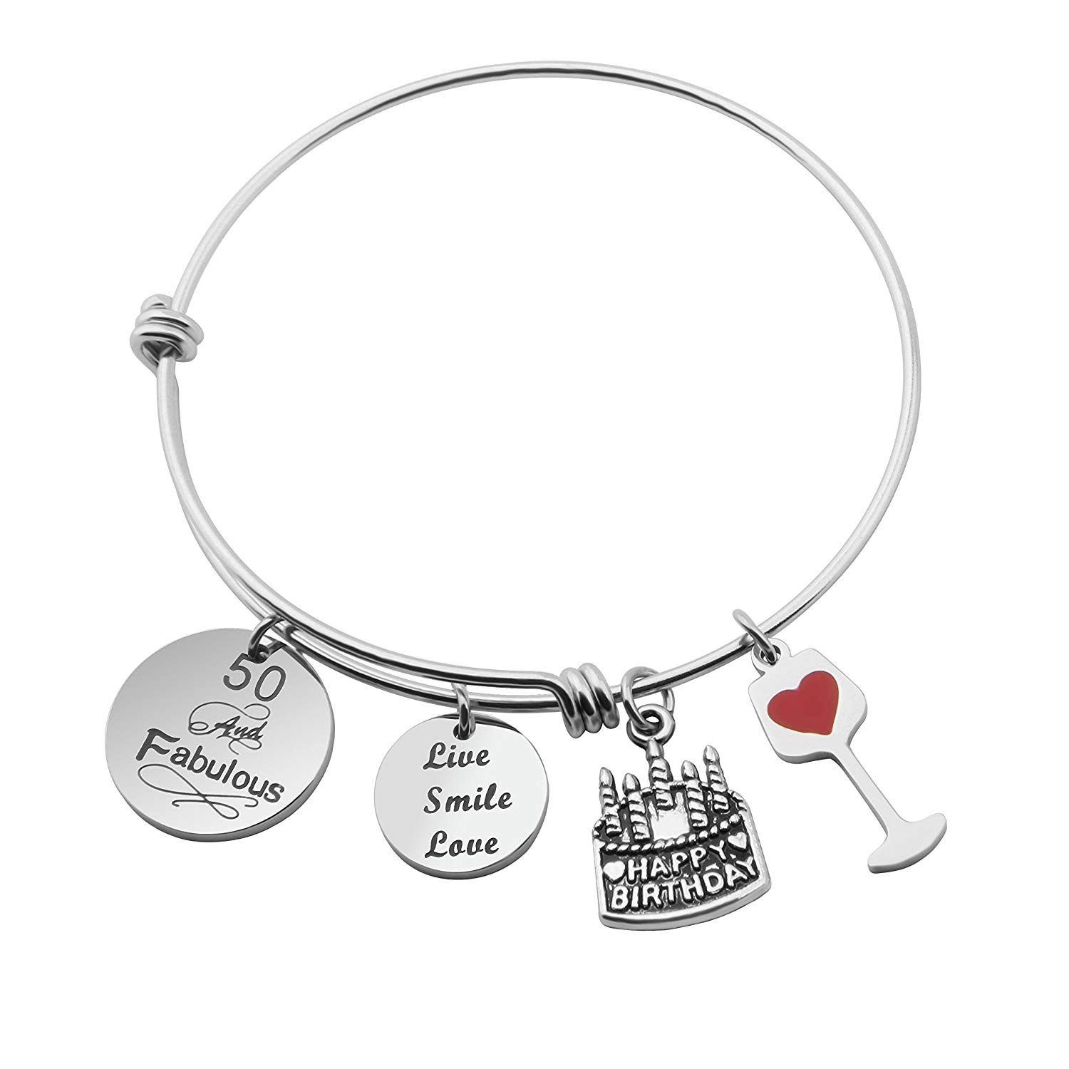 Get Quotations MAOFAED Birthday Bracelet Gifts For Her Expandable Bangle 30th 40th 50th 60th Perfect Gift Ideas