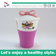 lovely ice cream cup mug with silicon base and cover for NFA0356