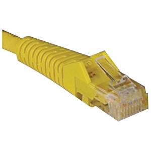 """Tripp Lite Cat5e Cat5 Snagless Molded Patch Cable Rj45 M/M - Patch Cable - Rj-45 (M) - Rj-45 (M) - 25 Ft - Utp - Cat 5E - Molded, Stranded, Snagless - Yellow """"Product Type: Supplies & Accessories/Network Cables"""""""
