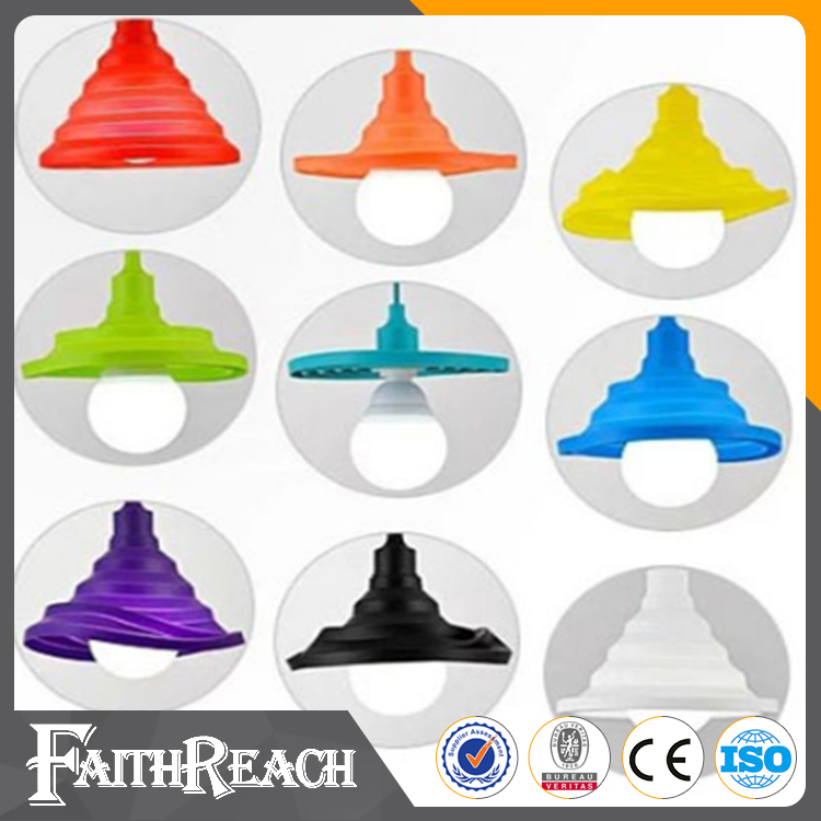 Silicone chandelier lamps foldable colorful pendant <strong>light</strong> with plastic ceiling rose