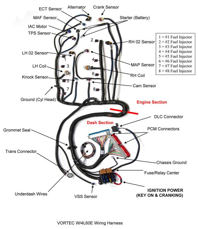 99 - 03 Vortec Engines (4.8,5.3,6.0,6.2-liter) 4l60e Or 4l80e Transmissions  Vortec Engine Wiring Harness on