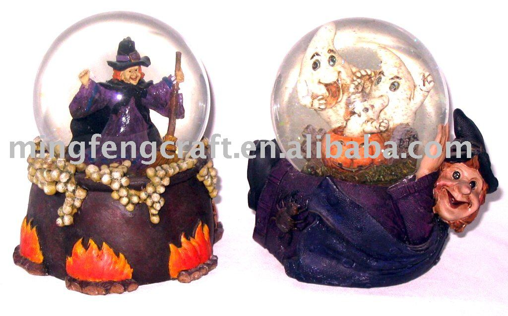 Polyresin halloween water globe gifts