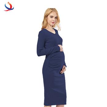 Solid Maternity Dresses Plus Size Pregnant Dress Spring Pregnancy Middle  Dress For Pregnant Women Clothes - Buy Maternity Nursing Dresses,Pregnant  ...