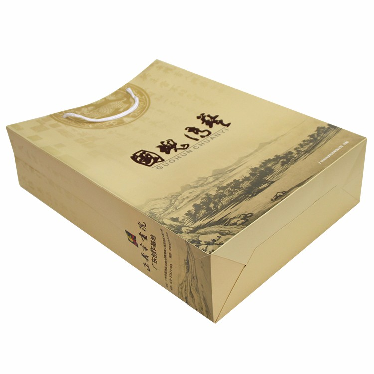 Custom screen tote printing paper bag printed in China factory