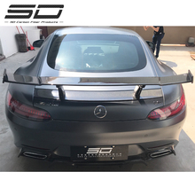 RENNTECH Style Real Carbon Fiber, 뒤 앞 범퍼 립 스포일러, 뒤 윙 대 한 Mercedes AMG <span class=keywords><strong>GT</strong></span>