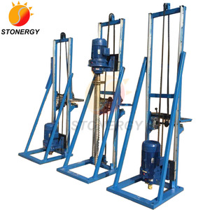 Portable Piling Driver For Ground Screw Base Solar Mounting System
