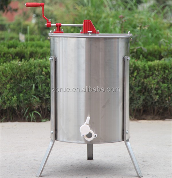 4 frames ss manual honey bee extractor