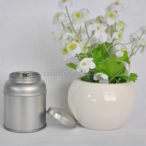 Factory directly sale low price empty metal tea round tin box