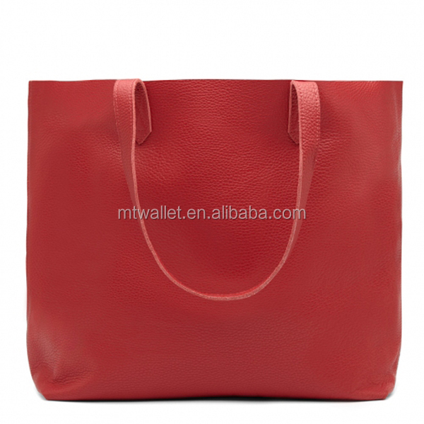 Large custom women genuine leather tote bag