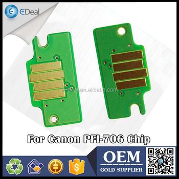 Alibaba China Pfi-706 Printer Ink Cartridge Chip For Canon Ipf8400 ...