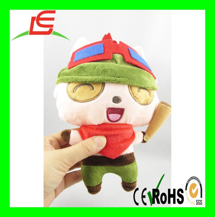 LE B017 Teemo Stuffed Plush Toy Action Figure League of Legends keyring