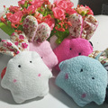 4Pcs Set Kawaii 10CM Cute Rabbit Plush Stuffed TOY Phone Charm String Pendant BAG Key Children