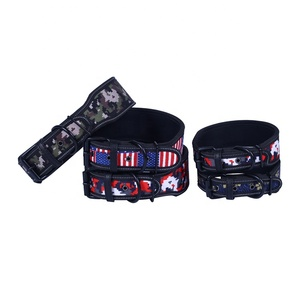 Pet Products Ecofriendly Reflective Custom Print Logo Camouflage Dog Collar For Medium To Large Size Dog