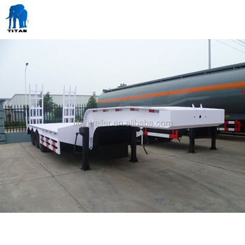 Heavy duty 80 ton 100 ton lowboy truck dolly semi trailer for sale