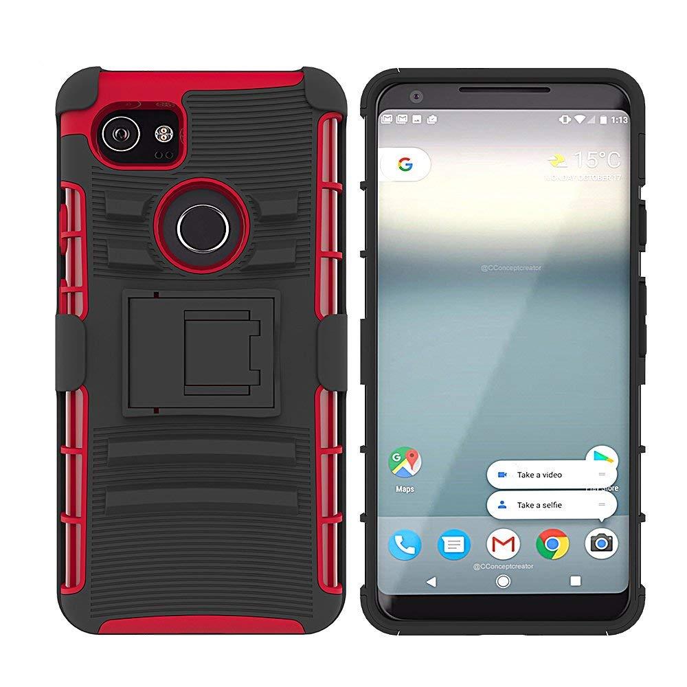 542443dbce Get Quotations · Google Pixel 2 XL Case, Tiamat Armor Shell Holster Combo Pixel  2 XL Protective Case