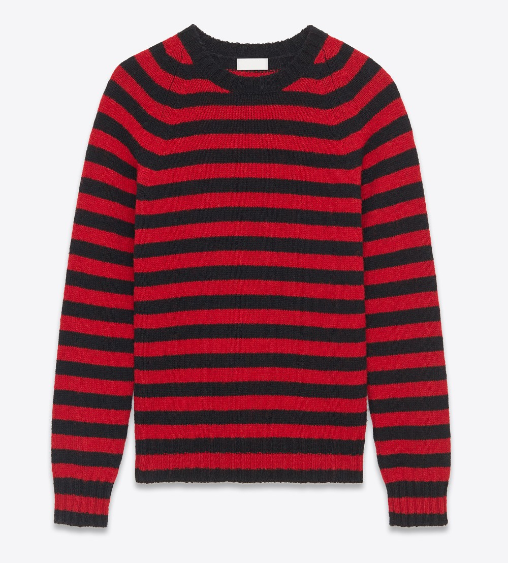 Latest Fashion Pullover Men Red Black Striped Sweater - Buy Red ...
