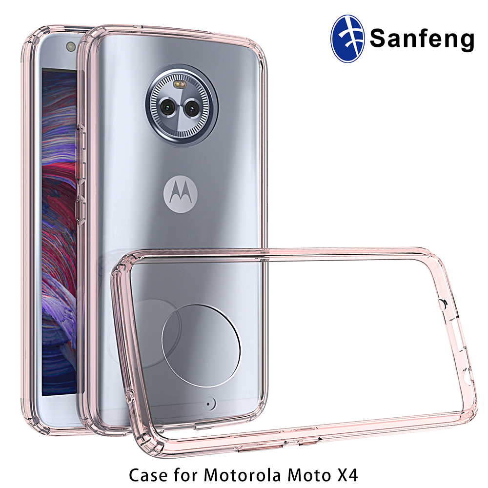 For Motorola Moto X (2017) Smartphone Case,Clear Dual TPU Bumper Case For Moto X4 /X 4th Gen
