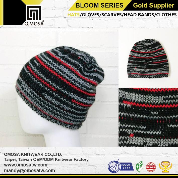 Venta al por mayor stripe tejer sombrero-Compre online los mejores ...