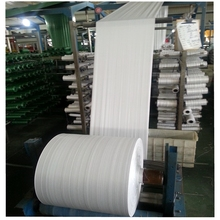 Virgin new material/White woven bag rolls / PP woven tubular fabric for making rice, fertilizer bags