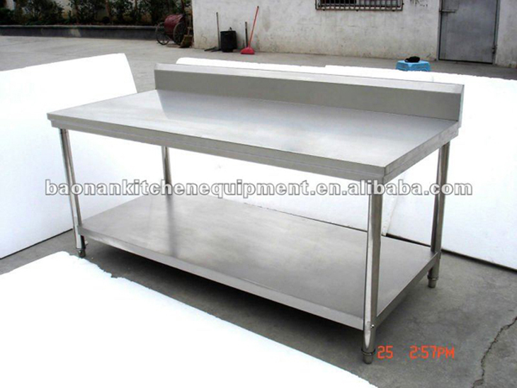 stainless steel commercial kitchen work tables flat top bench for neutral furniture gridmann pr